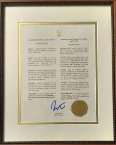 Proclamation-Certificate